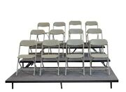 Staging 101 S3ssi 8 16 24 High 3 Panel Straight Seated Riser Industrial Finis
