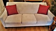 Microfiber Sofa Couch 3 Seat Living Room Furniture Brown Gray Black Leather New