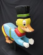Antique Painted Wooden Child's Carousel Duck Ride