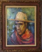 Tink Strother - Famed Portrait Artist - Oil On Canvas - Mid Century Painting