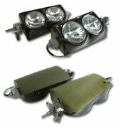 63-67 Corvette Complete Headlight/head Lamp Assembly W/bezels -all New Parts