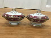 Antique Ridgway Sparks Ridgways Chelsea Pattern Pair Of Small Tureens