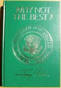 Jimmy Carter Signed Book Why Not The Best Presidential Edition 1977 Psa/dna
