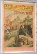 Louis Gigassou-dolques Old Poster East French Railroad City Of Provins Ci 1910