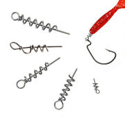 Fishing Lures Hook Pin Spring Fixed Latch Needle Soft Worms Fishing Bait Tackle