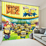 The Merry Minions 3d Blockout Photo Curtain Print Curtains Fabric Kids Window