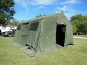 Military Base X Tent 303 Army 270 Sq-ft No Liner Yes Floor Camping Hunt