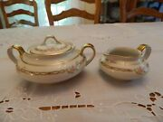 Theodore Haviland Limoge Cream Pitcher And Covered Sugar Bowl 7-2