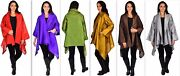 Women Plus Size Poly Silk Designer Cover Up Duster Jacket Sizes 1x-6x