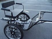 Horse Carriage, 2 Wheel Buggy, 49 Wide Wheel Size 27 Color Navy