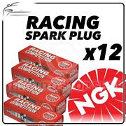 12x Ngk Racing Spark Plugs Part Number R2558a-8 Stock No 7774 Genuine Sparkplugs