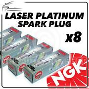 8x Ngk Spark Plugs Part Number Pfr6t-10g Stock No. 5542 New Platinum Sparkplugs