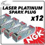 12x Ngk Spark Plugs Part Number Pzfr6f Stock No. 7550 New Platinum Sparkplugs