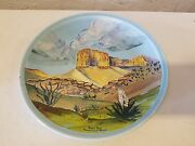 Vintage Hand Painted Guadalupe Range Plate Art by Laura Blackmon