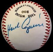 Scarce Hank Aguirre Died 94 Jsa Loa Signed Baseball Indians Tigers Dodgers Cubs