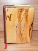 Small 5 1/2 X 4 Inch Wood Cover Red Letter Edition Jerusalem Holy Bible Only