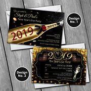 New Years Eve Invitations Personalised Party Invites 2020 2019