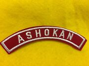 Ashokan Red And White Community Shoulder Strip Patch