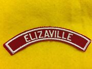 Elizaville Red And White Community Shoulder Strip Patch