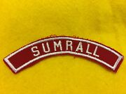 Sumrall Red And White Community Shoulder Strip Patch