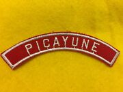 Picayune Red And White Community Shoulder Strip Patch