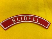 Slidell Red And White Community Shoulder Strip Patch