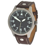 Aristo Automatic Observer Aviator Watch 3h138 Coin Edge 5atm Stainless Leather