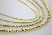 Authentic 14k Solid Yellow Gold D/c Rope Chain 1.5mm5mm/1630