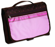 Tri-fold Designer Organizer Large Bible And Book Cover Pink/chocolate By Zondervan