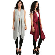 Ne People Womenand039s Ultra Soft Open Front Midi Cardigan Made In Usa [newj184]