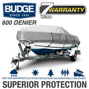Budge 600 Denier Waterproof Boat Cover | Fits Center Console V-hull | 5 Sizes