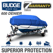 Budge 600 Denier Boat Cover   Fits V-hull Fishing Boats   12 Colors And Sizes