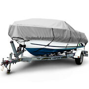 Boat Cover 1200d Waterproof V-hull Center Console Boat Beam Width 106 16and039-26and039 L