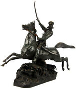 Skobelev On Horse - Russian General Conquest Of Central Asia - Bronze Statue