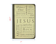 Inspiration Names Of Jesus Large Bible And Book Cover By Zondervan Brand New
