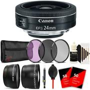 Canon Ef-s 24mm F/2.8 Stm Lens With Accessory Kit For Canon 80d 77d And 70d