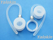 2 White Earhooks And Earbuds For Motorola H19 H19txt Hx550 H525 H520