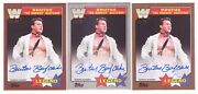 2017 Topps Wwe Heritage Gold Silver Brutus The Barber Beefcake Auto /10 3 Lot