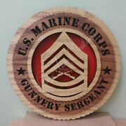 Us Marine Corps Gunnery Sergeant Laser Cut 3d Wood Wall Tribute Plaque 11andfrac14