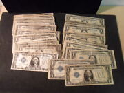 Store Inventory Sale 43 1 Funny Back Silver Certificates - Circulated
