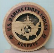Us Marine Corps Forces Reserve Laser Cut 3d Wood Wall Tribute Plaque 11andfrac14
