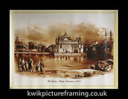 Original First Print Of The Golden Temple Amritsar 1833 In Size - 18 X 14