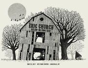 Eric Church 5/25/2017 Poster Louisville Ky Signed And Numbered /120 Rare