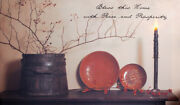 New Country Primitive Bless This Home With Peace And Prosperity Lighted Picture