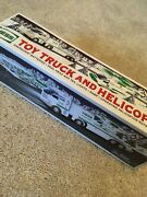 New In Box 1995 Hess Truck Toy Truck And Helicopter