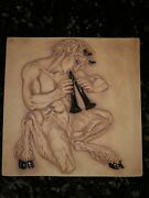 Meyer  ART POTTERY Wall Sculpture, Mythology PAN with Flute.  (123)