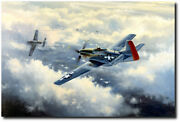 Scat Vii By David Poole - P-51 Mustang - Aviation Art Print