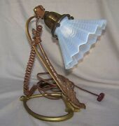 Was Benson Arts And Crafts Nouveau Secessionist Table Lamp - Opalescent Shade