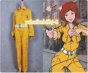 The Teenage Mutant Ninja Turtles April O'neil Outfit Cosplay Costume A721