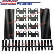New +.100 Pushrods, Flat Guide Plates And 7/16 Rocker Arm Studs Sb Chevy 400 350